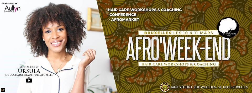 Afro Weekend 2018 | Soins Naturels Cheveux Crépus à l'Huile de Noix de Coco et Beurre de Karité